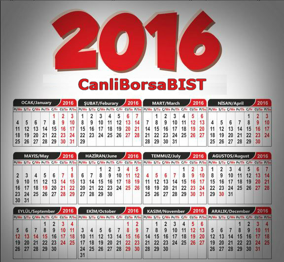 2016-resmi-tatil-takvimi