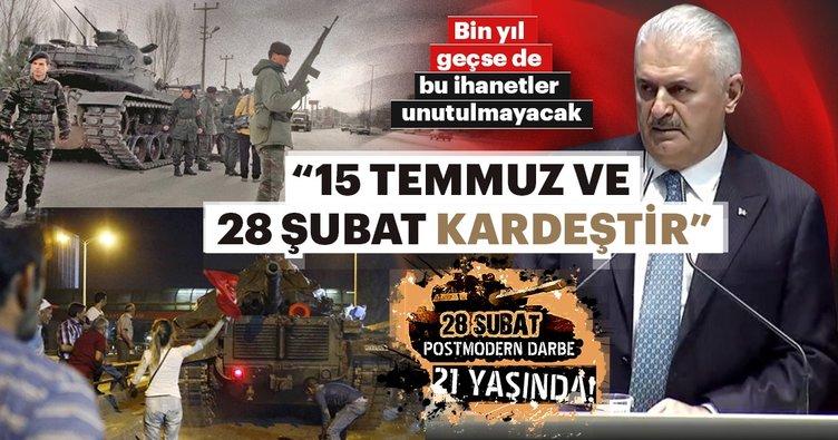 Başbakan Yıldırım: 28 Şubat'ın Türkiye'ye maliyeti 390 milyar dolar