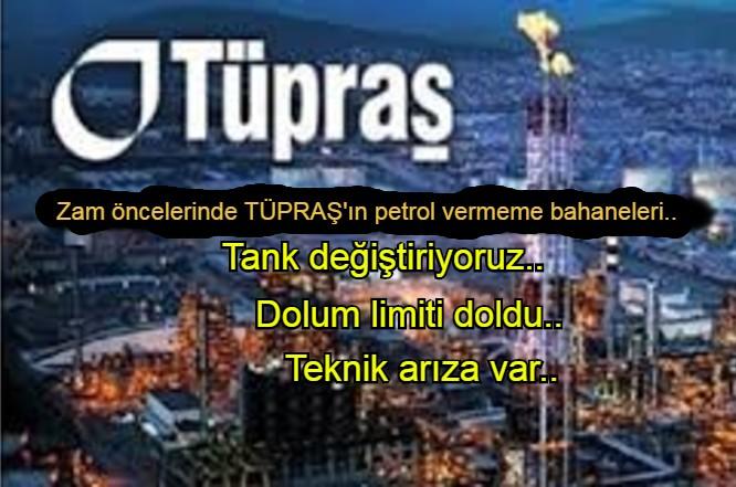 Tüpraş, zam öncelerinde dağıtım şirketlerine kota oyunu çekiyor